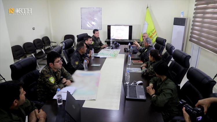 "Photo of SDF Commander-in-Chief Mazloum Abdi supervises ""Deterrance of Terrorism"" operation"