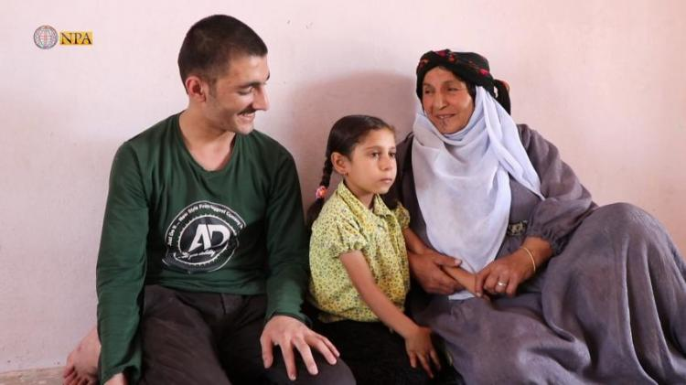 Photo of Yazidi House receives a kidnapped young man by ISIS