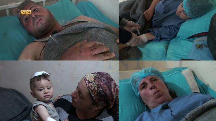 Photo of Human Casualties in Turkish heavy shelling on eastern countryside of Afrin