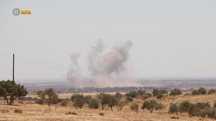 Photo of After military advance in Idlib countryside, government forces shell the southern countryside of Aleppo