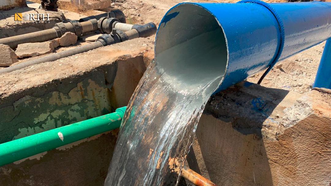 Hasakah – Pumping water to Aziziyah neighborhood – North Press