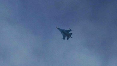 Photo of Turkish and Russian aircraft monitor airspace over northwestern Syria