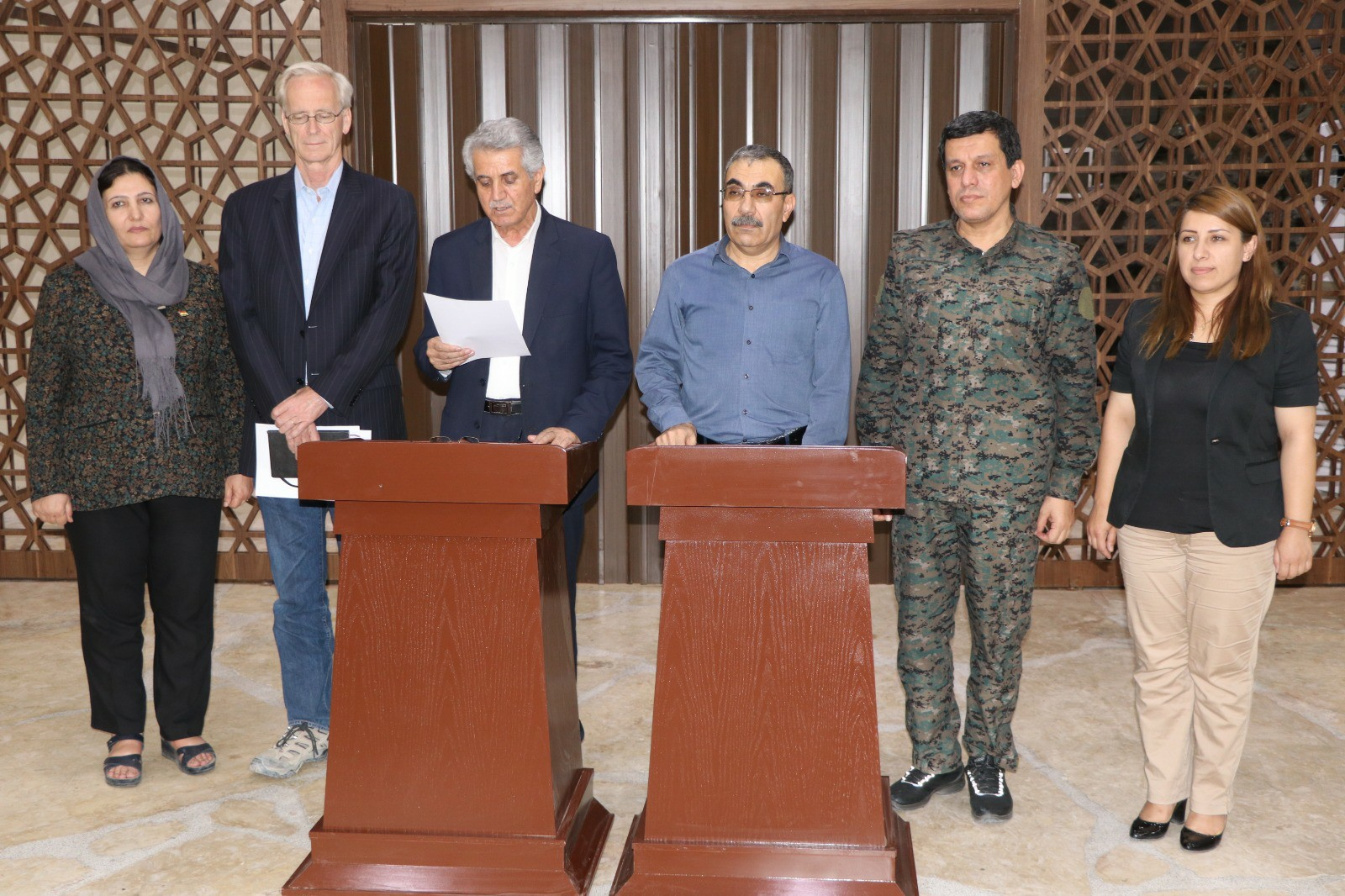 Statement of the initial agreement between the Kurdish National Council and the Kurdish national unity parties