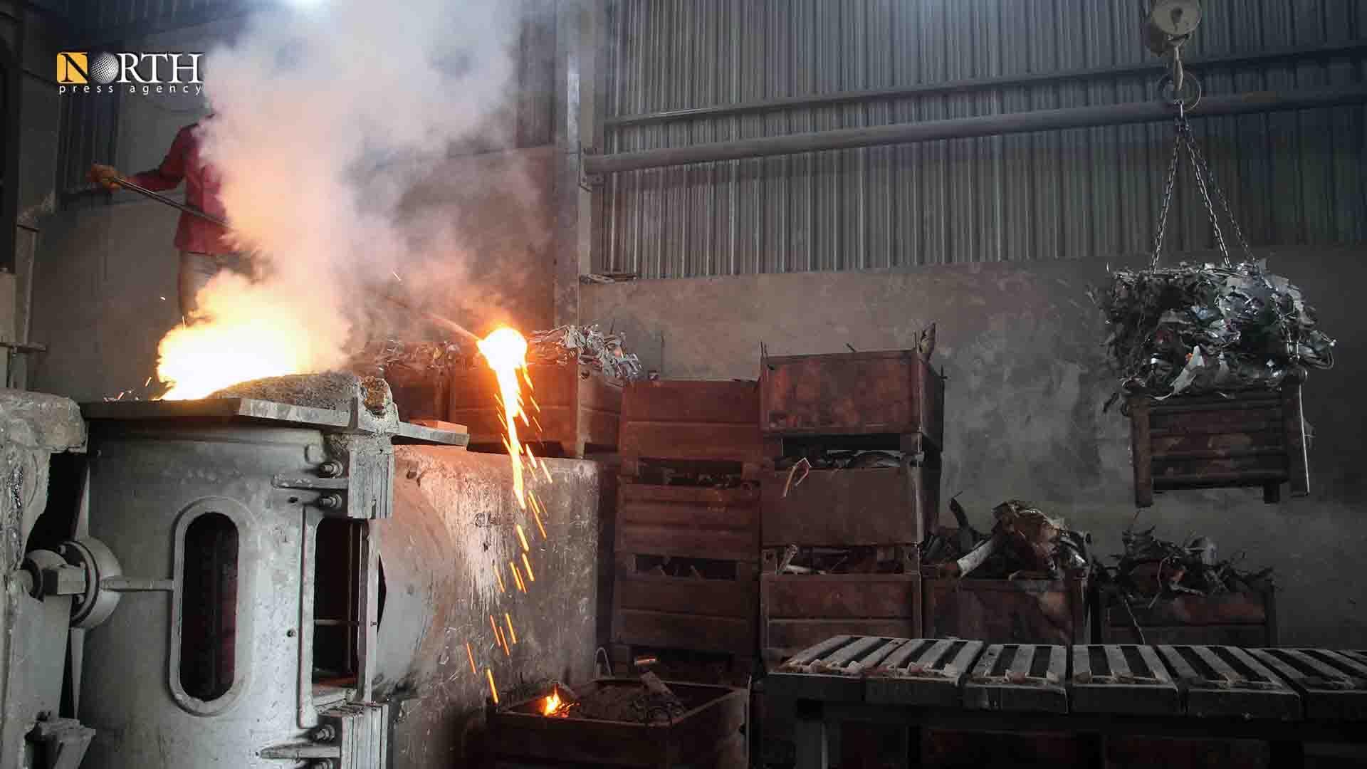Manbij – Abdal al-Sham for Iron and Steel factory – North Press