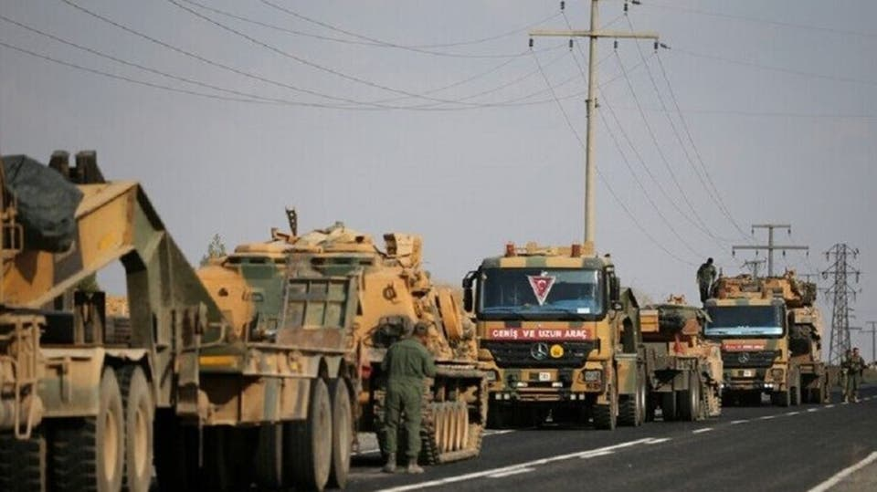 Turkish vehicles in Idlib