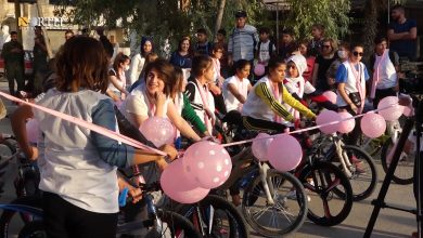 Photo of Bike marathon initiative to raise breast cancer awareness and fight stigma against women cyclists held in Syria's Qamishli