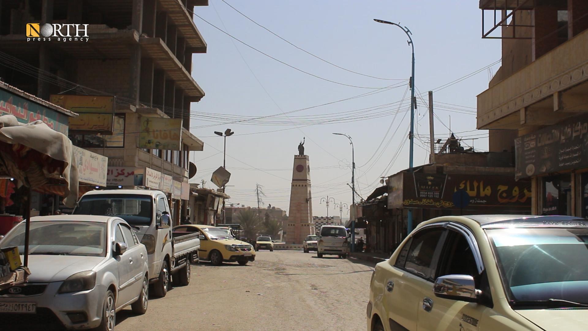 Clock Roundabout Square in Raqqa city center – (Photo: North Press)