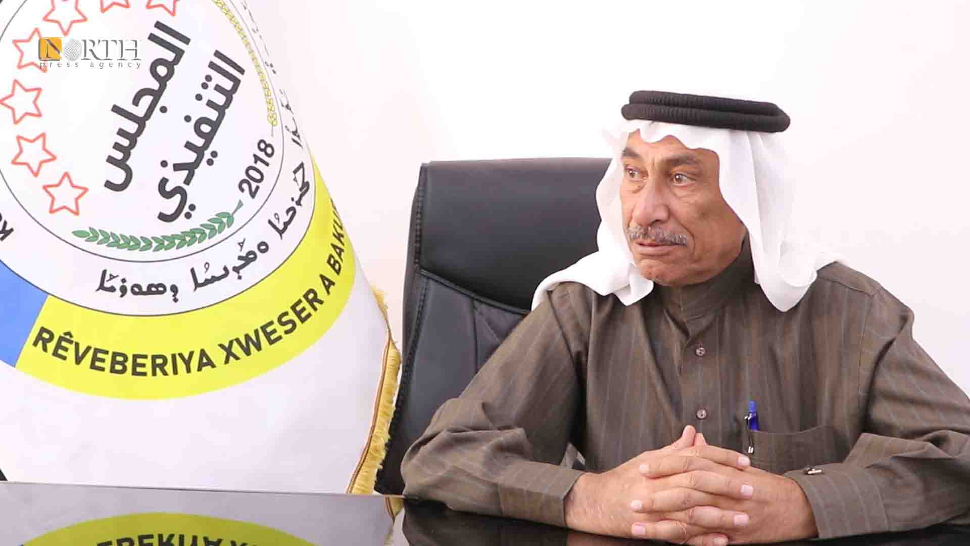 Raqqa - The deputy co-chair of the Executive Council for the Autonomous Administration, Hamdan al-Abed