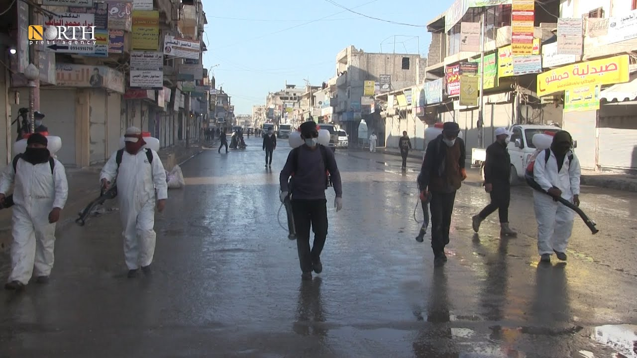 Street sterilization in the city of Raqqa – (Photo: North Press)