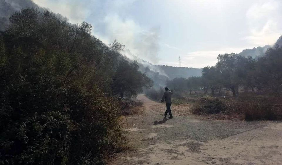 The fire of the town of As-Soda, Tartous