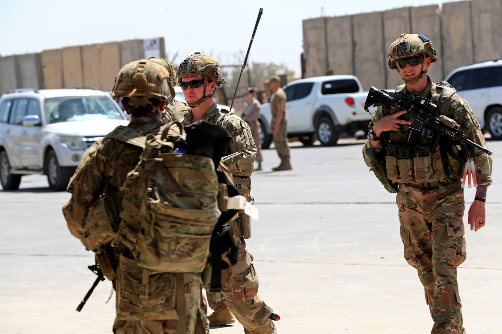 American troops in the Middle East