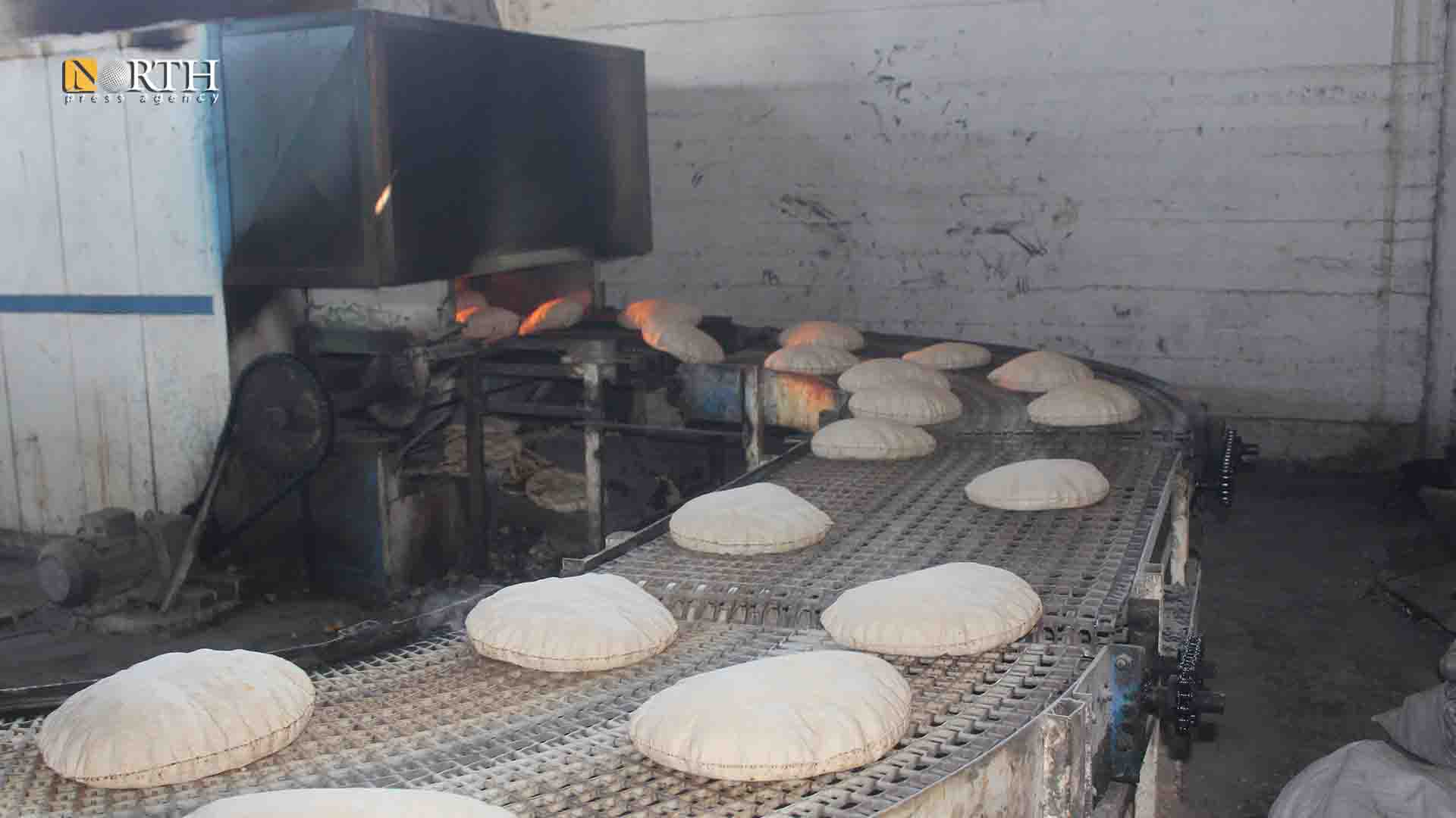 Automated bakery in the city of Shaddadi, south of Hasakah