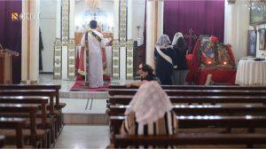 Derbasiya - Holding the special prayer for St. Thomas – (North Press)
