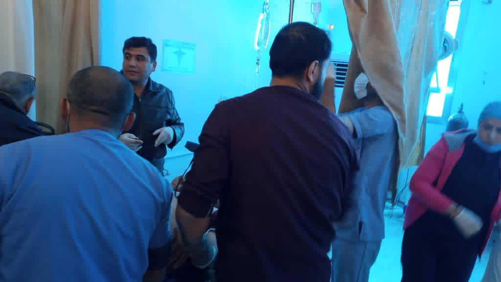 Photos from hospital in Ain Issa for civilians wounded due to the Turkish shelling.