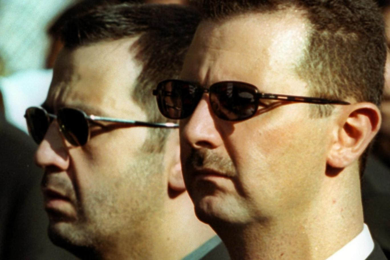 Syria's President Bashar al-Assad and his younger brother Maher al-Assad. (Photo: AFP/Getty Images)