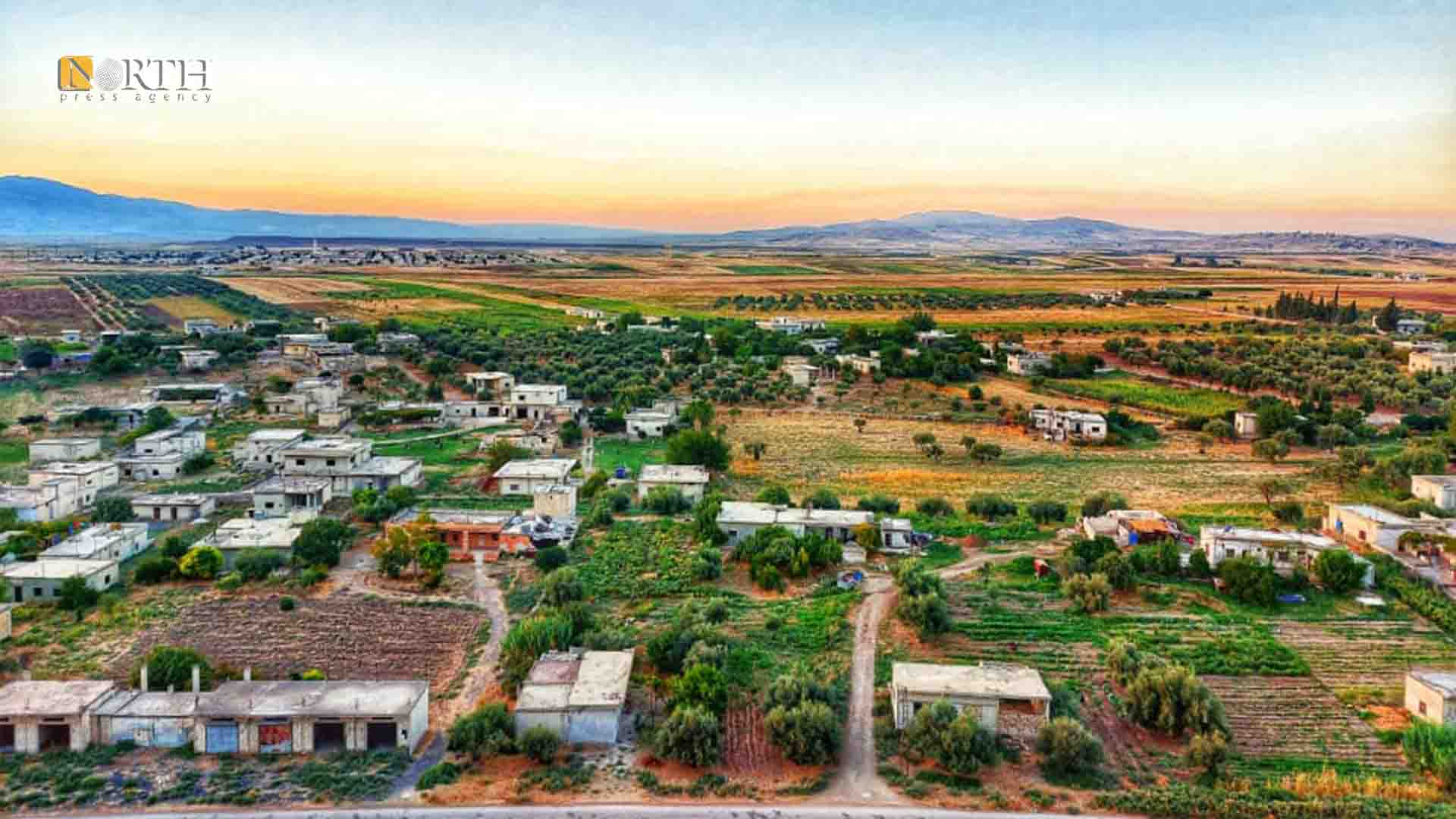 The town of Qastoun in al-Ghab Plain, west of Hama, Syria (North Press)