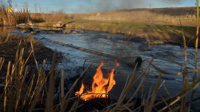 Photo of Oil spill dirties river east of Syria's Qamishli