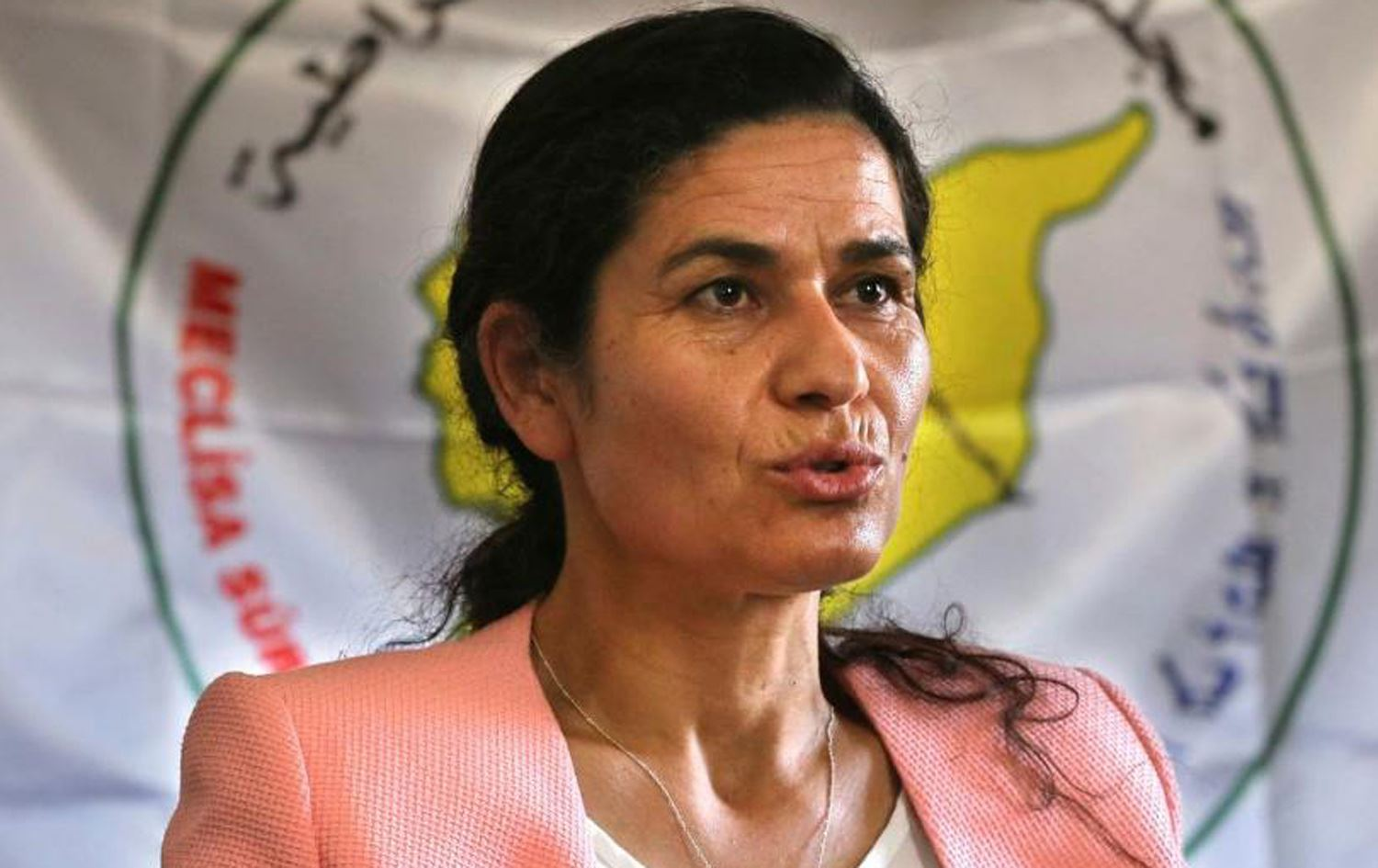 Ilham Ahmed, the chair of the Executive Board the Autonomous Administration of North and East Syria (AANES)