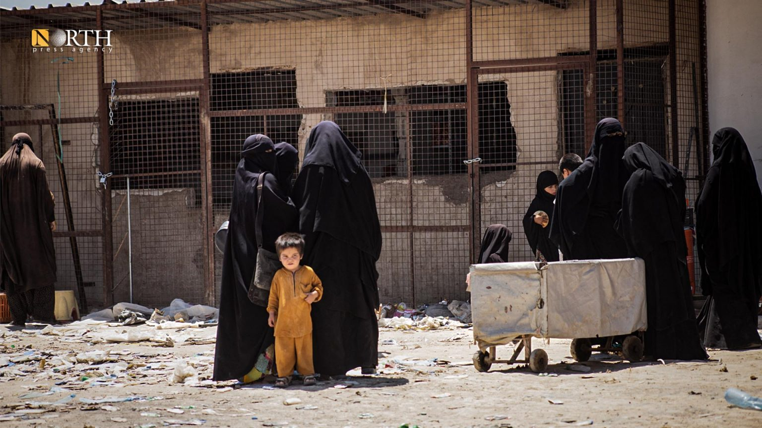 Refugees in Hawl Camp, eastern Syria's Hasakah (North Press)
