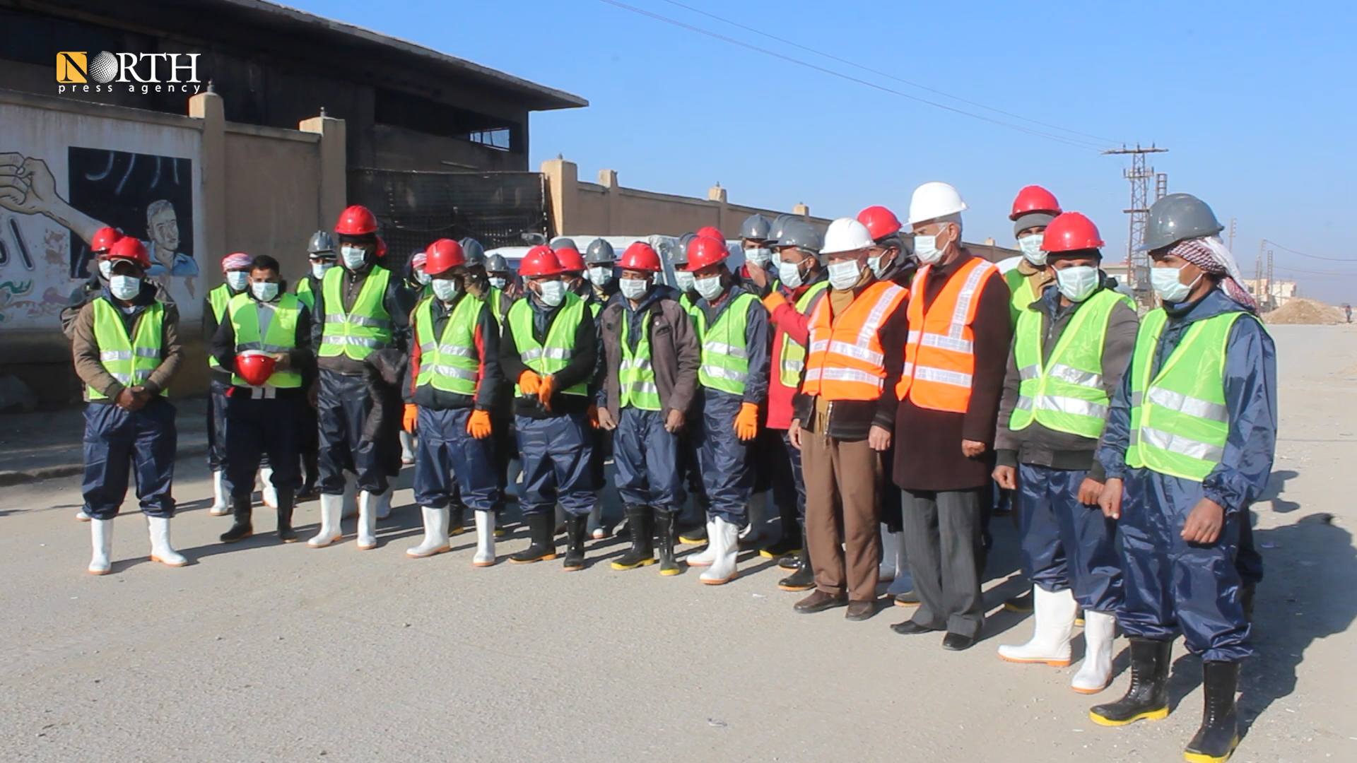 Shaddadi: A group of workers in the project of drawing Euphrates water to Hasakah - North Press