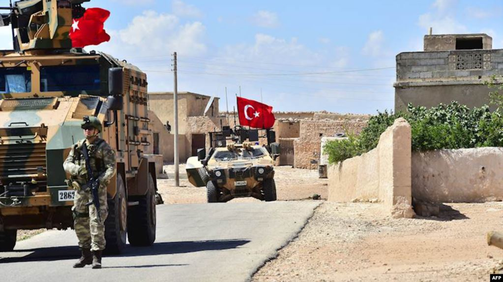 Turkish armored vehicles in Idlib