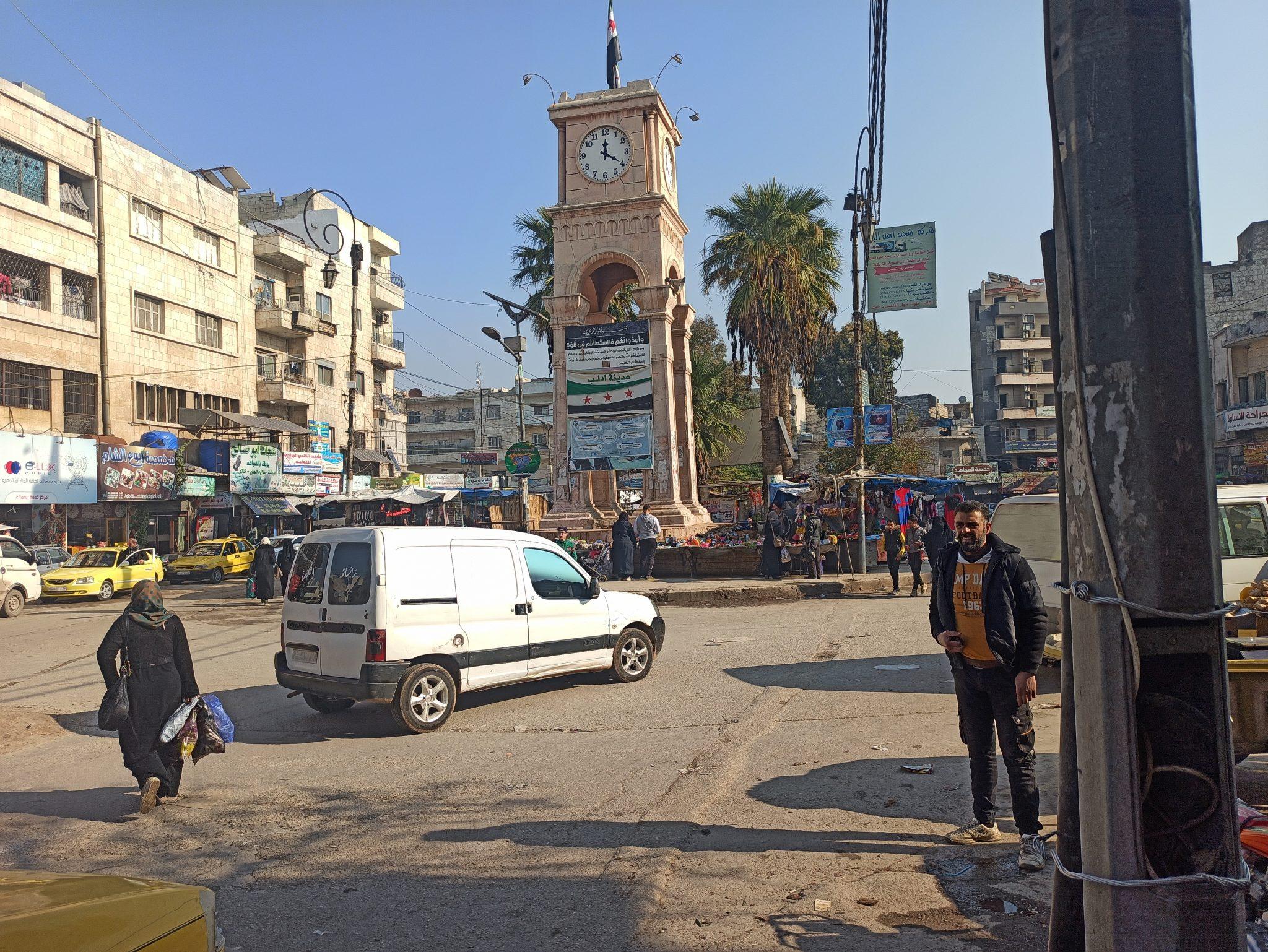 Al-Sa'a roundabout in the city of Idlib – North Press