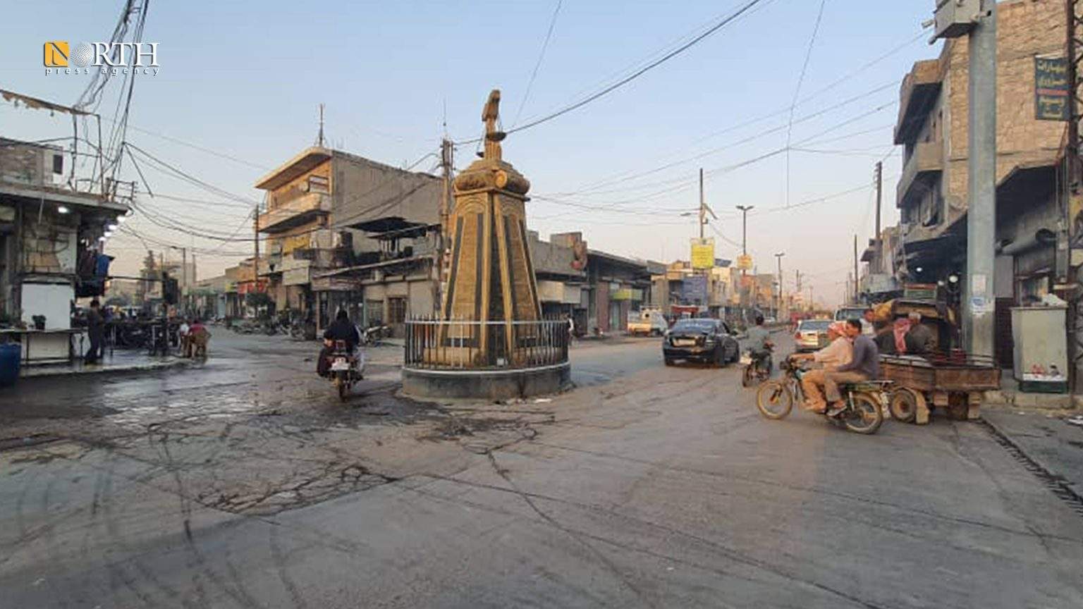Al-Mizan Roundabout in al-Bab city, Aleppo – North Press