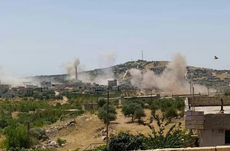 Shelling on Idlib countryside