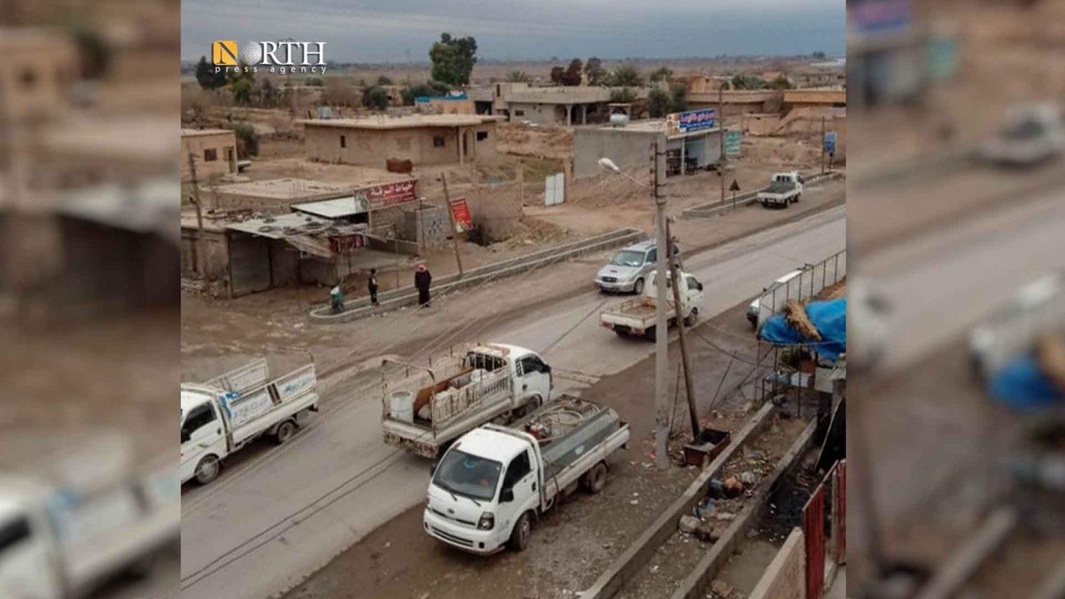 The town of al-Sabbha, east Deir ez-Zor
