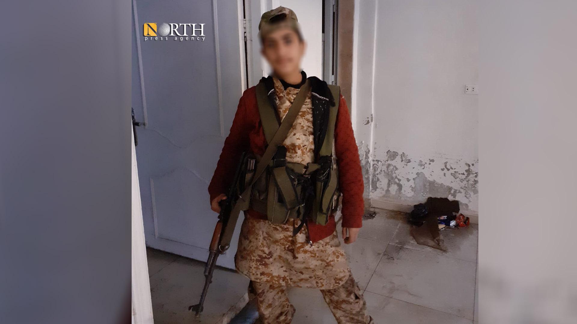 A child soldier in Idlib, North Press