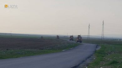 Photo of US forces patrol Derik countryside