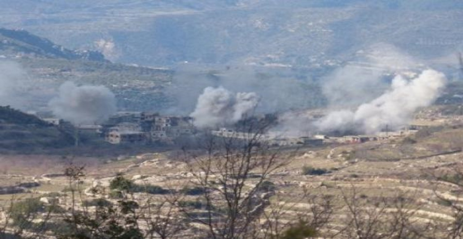 Shelling on the southern countryside of Idlib