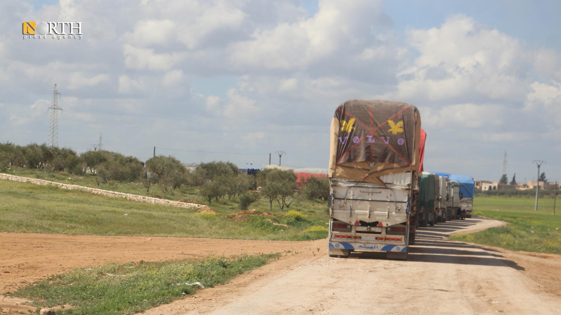 Trucks stuck in Manbij between AANES and Damascus government-held areas – North Press