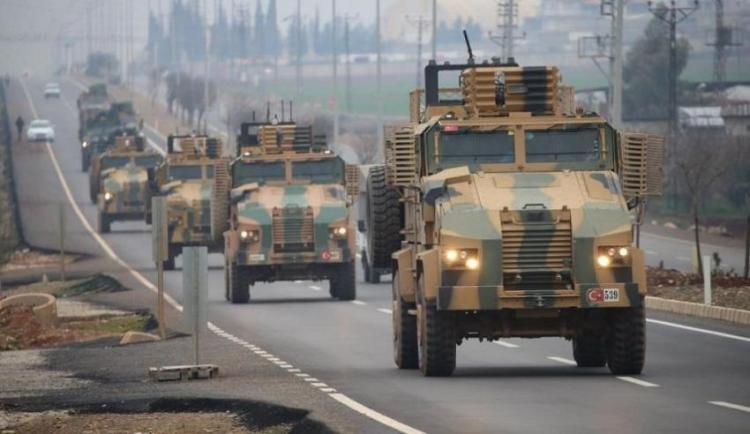 Turkish reinforcements inside the de-escalation zones