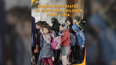 Photo of Russia has repatriated 34 orphans of ISIS families from camps in northeast  Syria.