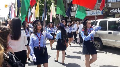 Photo of Scouts start from the al-Salib church for Greek Orthodox in al-Qasa' neighborhood in the city of Damascus
