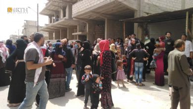 Photo of huge numbers of returnees to Qamishli's al-Tai neighborhood after expelling pro-government National Defence Forces  Qamishli