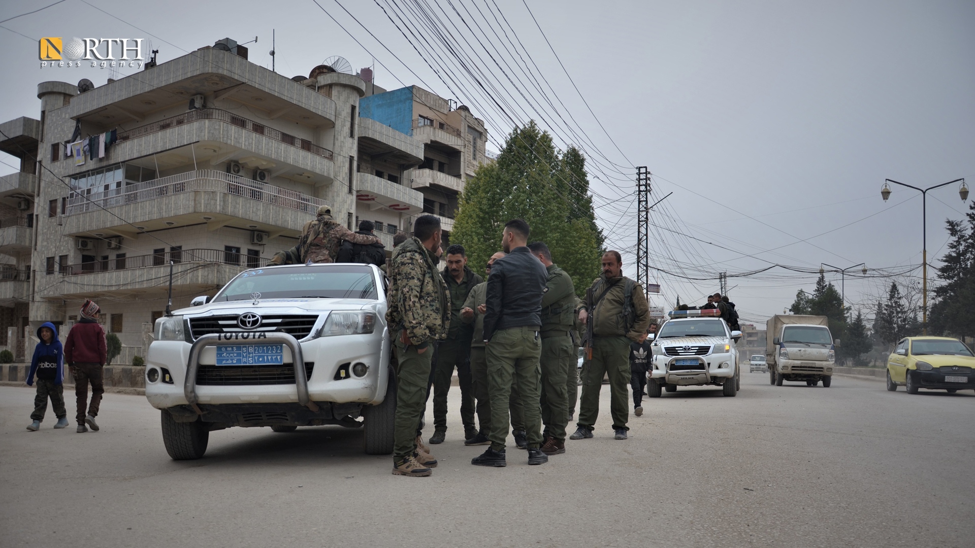 A patrol of the Asayish in the city of Qamishli – North Press