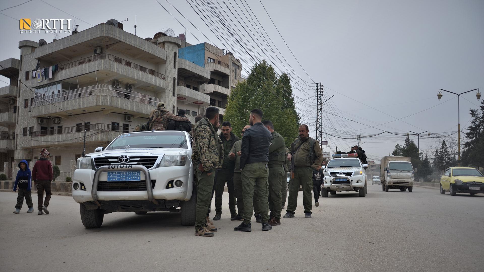 A patrol of the Asayish in the city of Qamishli – North Press