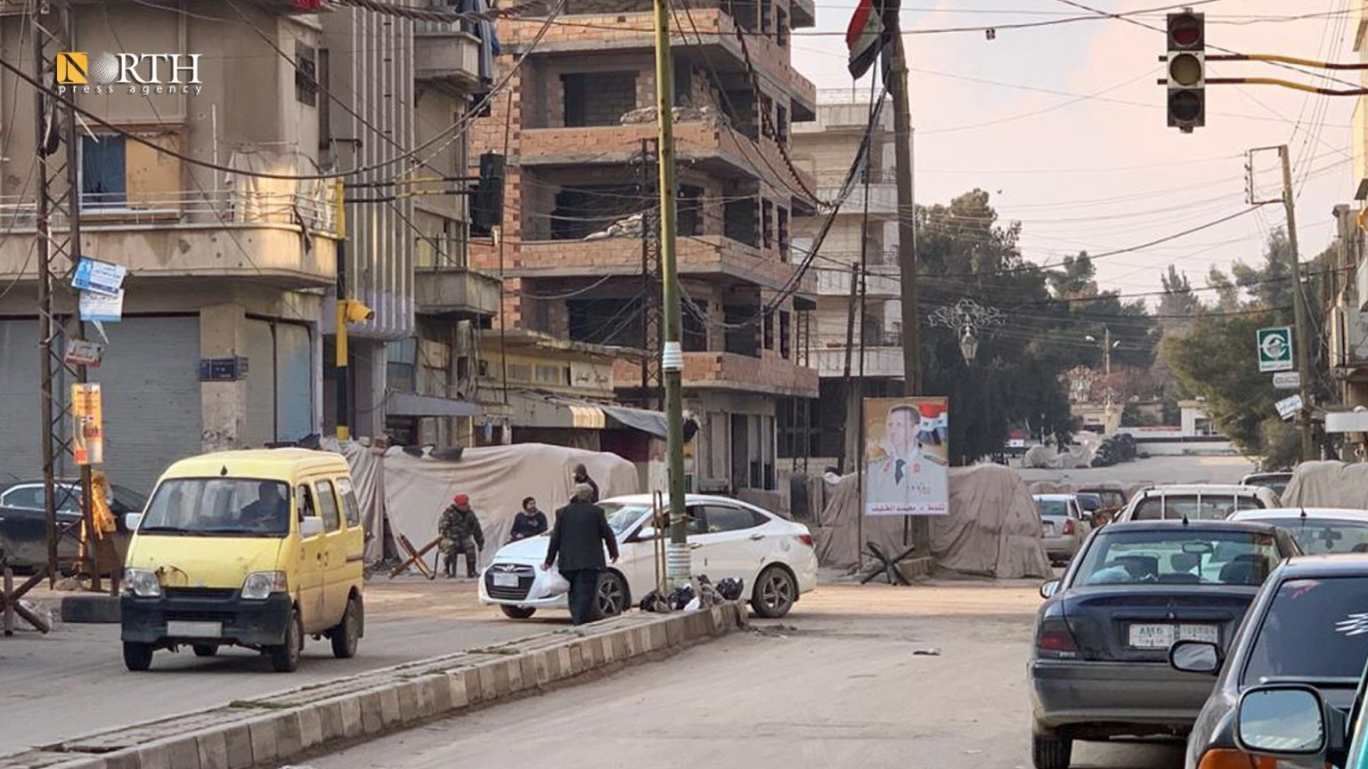 Entrance to the government-held Security Square in Qamishli – North Press