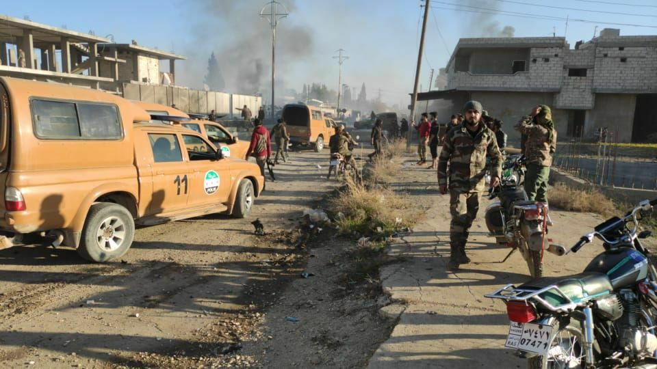 Explosion in the city of Sere Kaniye (Ras al-Ain)