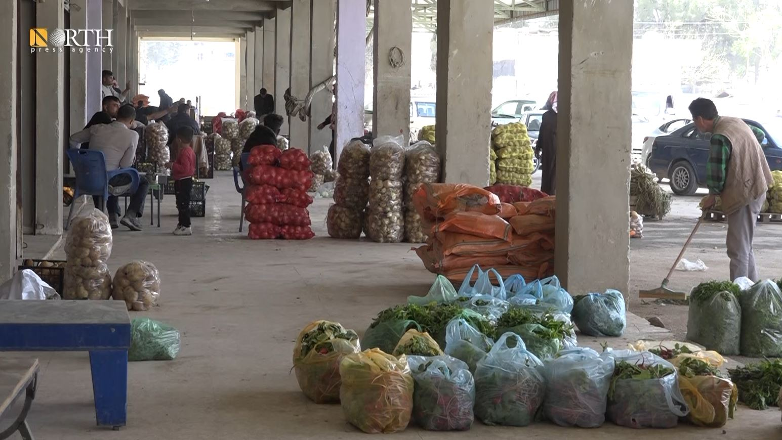 High vegetable prices in Kobani on the eve of the total lockdown