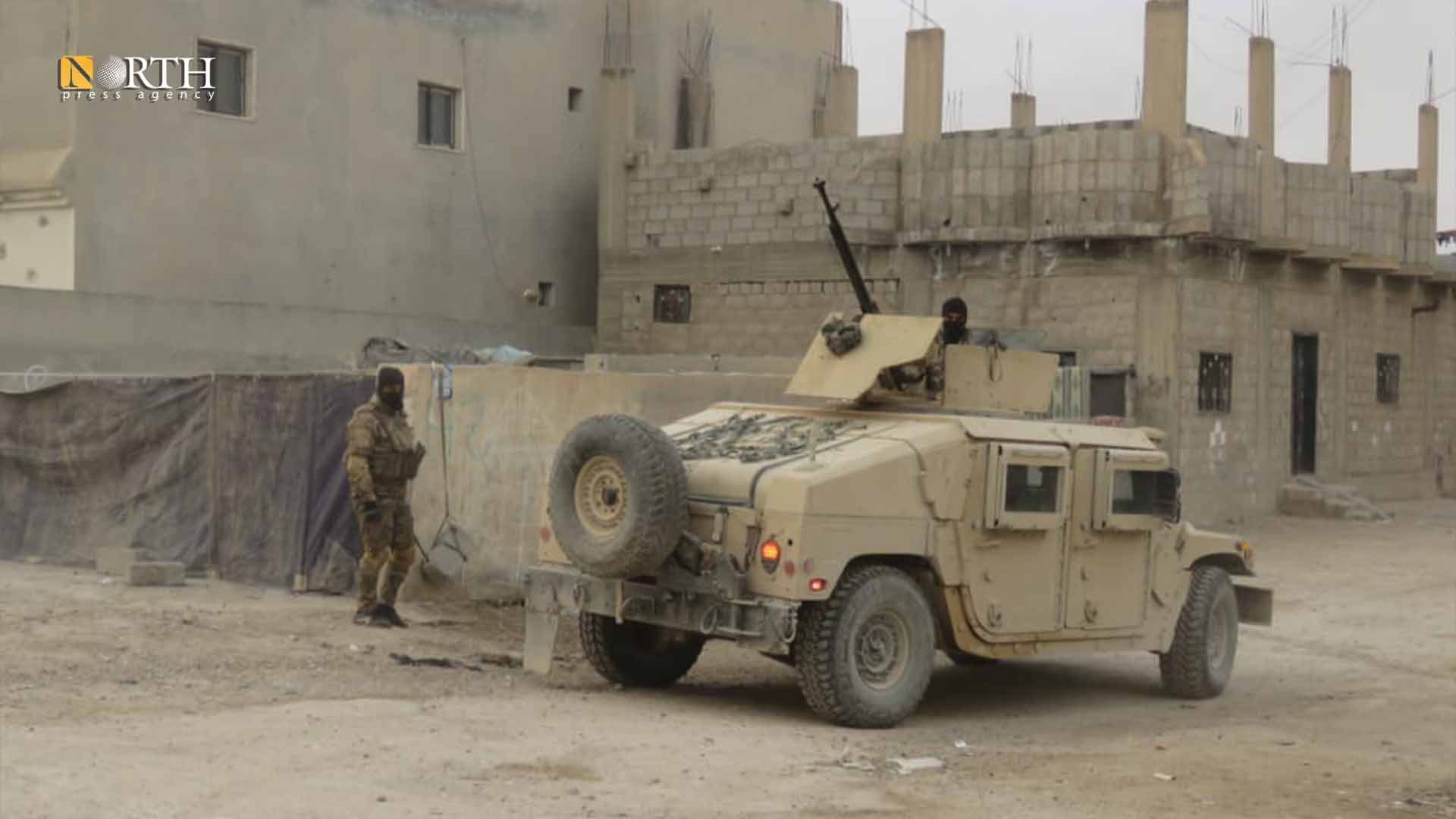 Military armored vehicle of SDF while combating Hawaij Ziban town –North Press