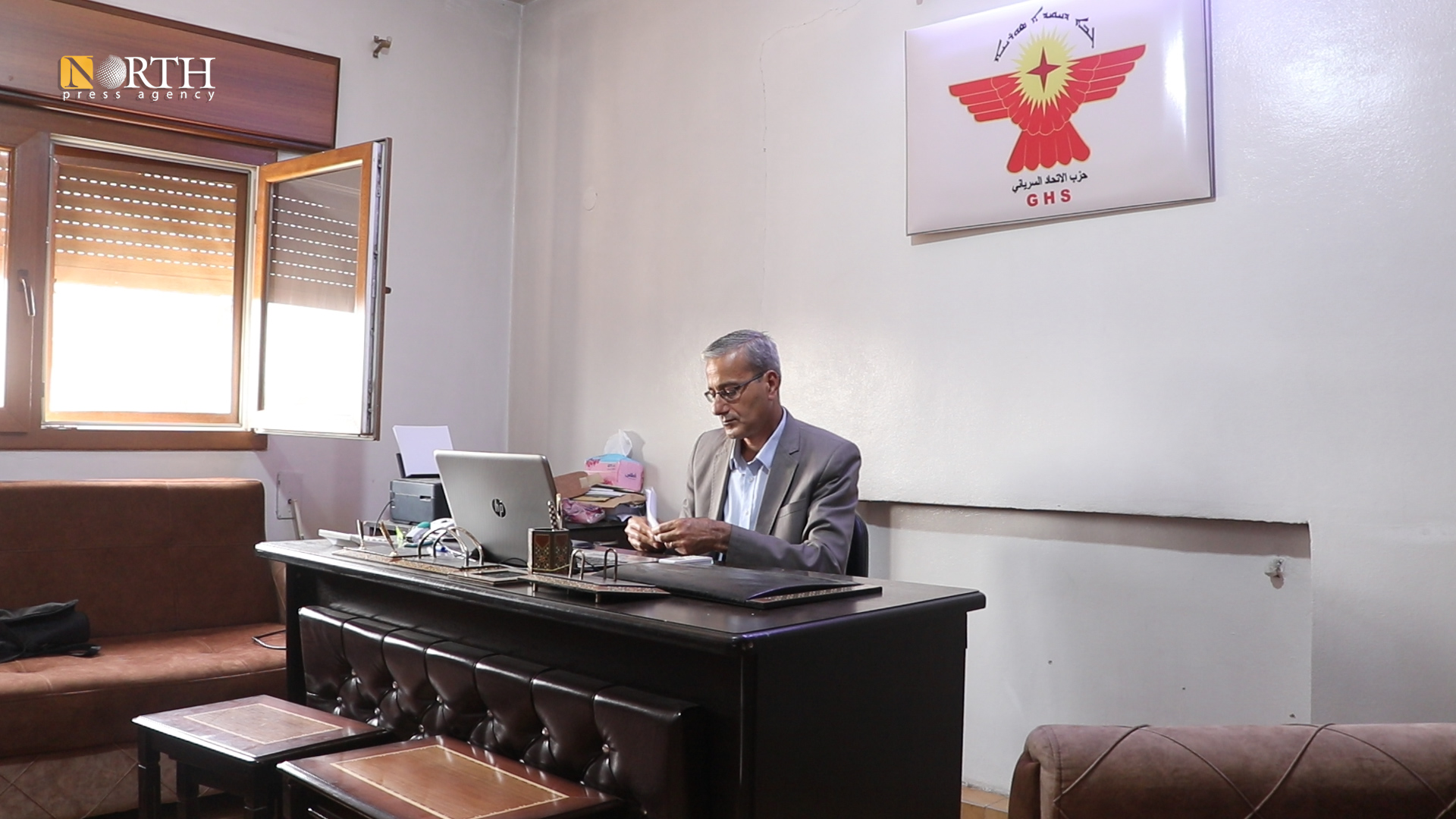 Sanharib Barsom, co-chair of the Syriac Union Party – North Press