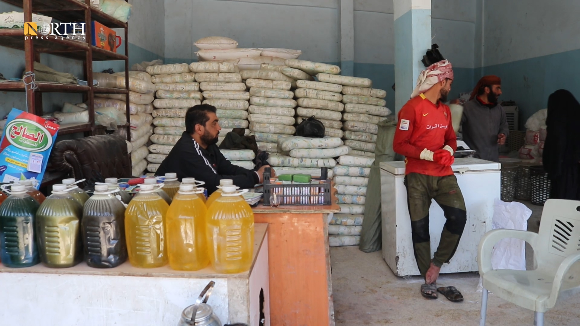 A detergents factory in the eastern countryside of Deir ez-Zor