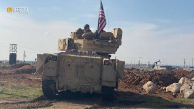 Photo of American Bradley vehicles patrol near oil station in Derik countryside