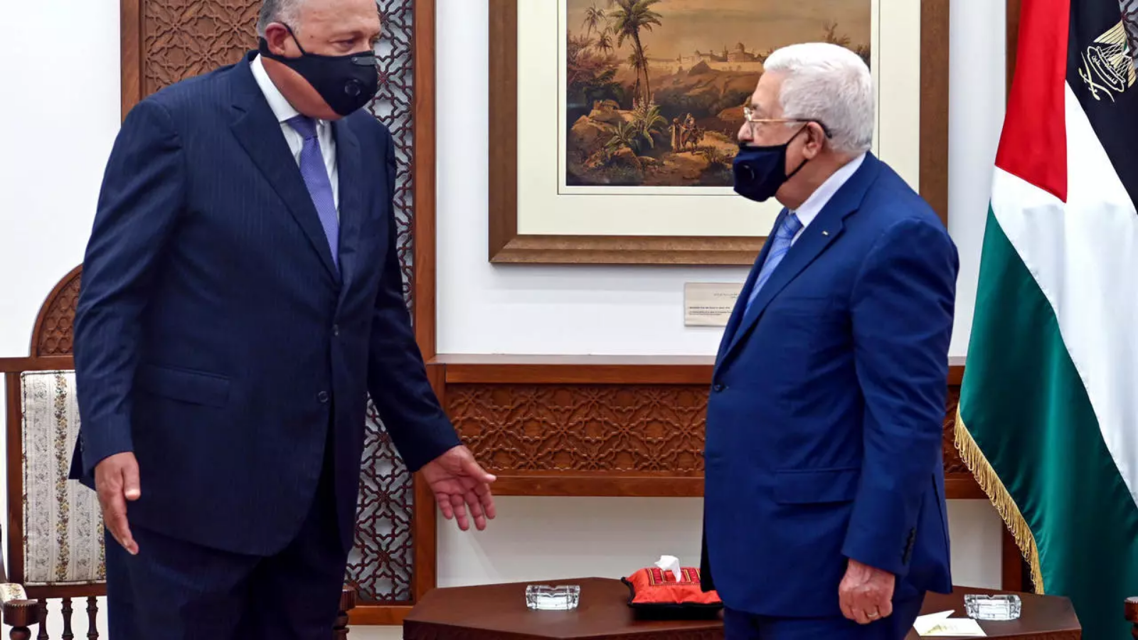 Egyptian Minister of Foreign Affairs and President of the State of Palestine