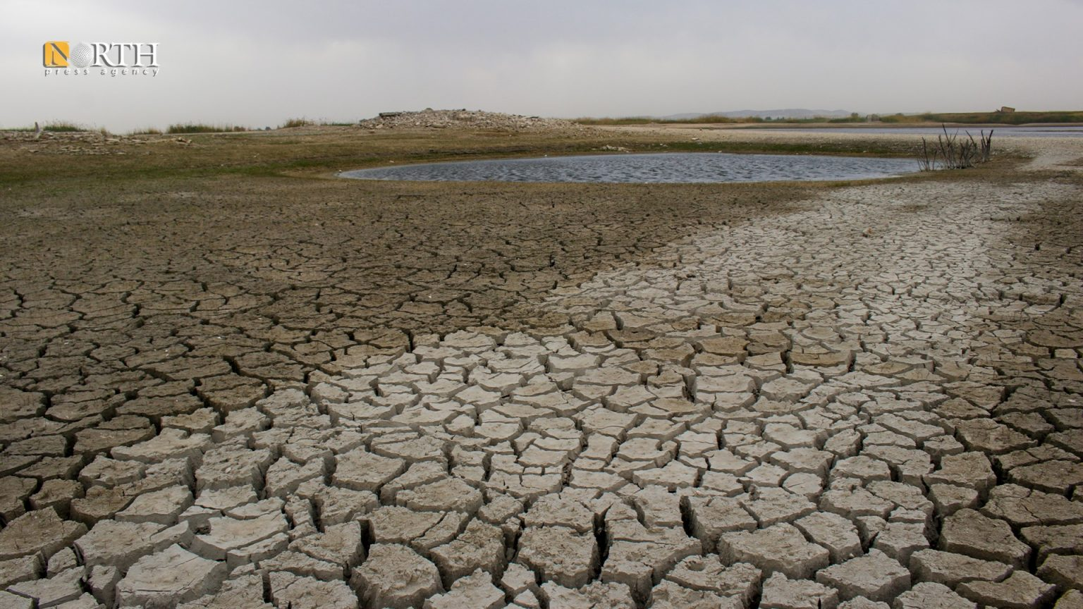 Scenes of declining water levels in the Euphrates River - North Press - Archive