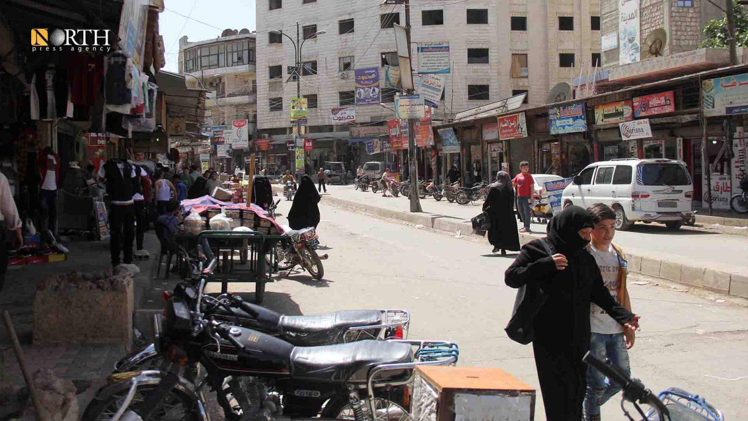 The main street of Idlib city market – North Press / Archives