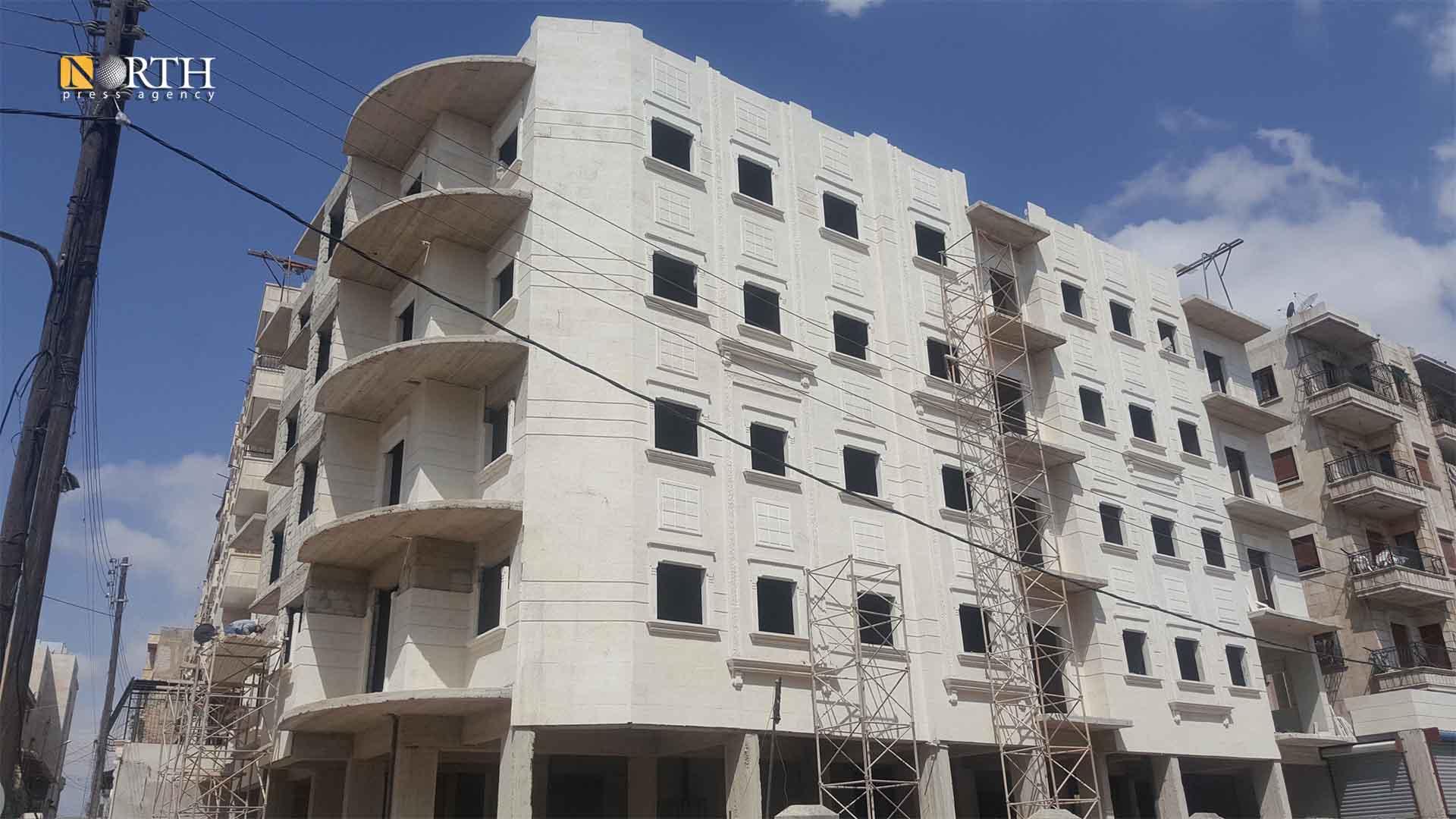 A building under construction in al-Zebdiya neighborhood in the city of Aleppo – North Press